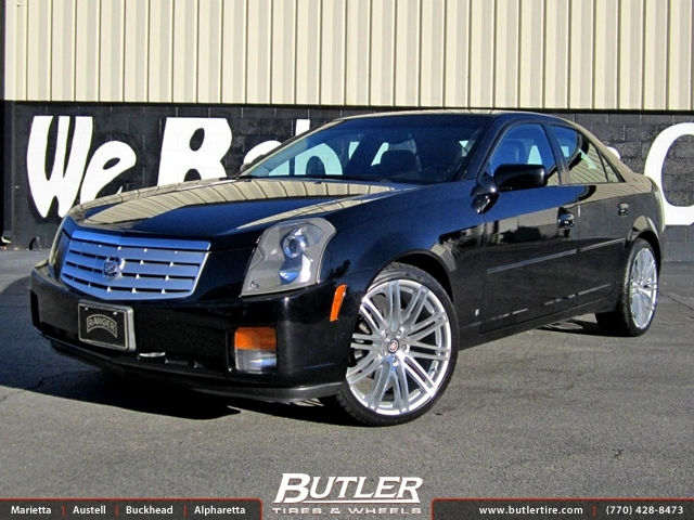 Cadillac CTS with 20in Ruff Racing 966 Wheels