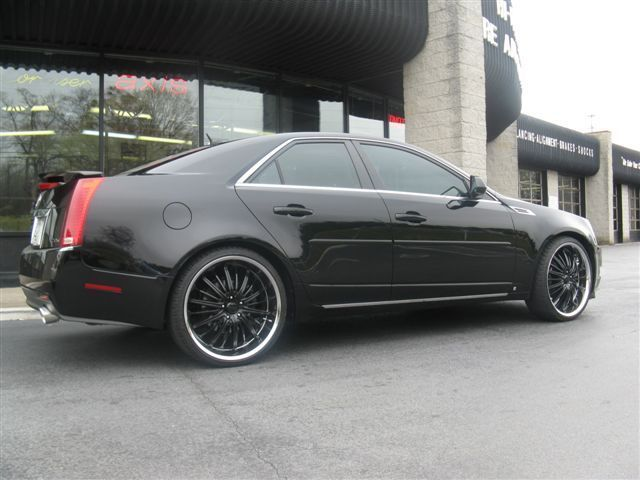 Cadillac CTS with 22in Akuza Belle Wheels