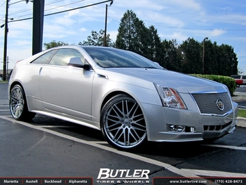 Cadillac CTS with 22in Lexani CVX 44 Wheels