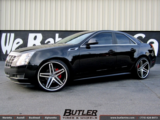 Cadillac CTS with 22in Lexani R-Five Wheels