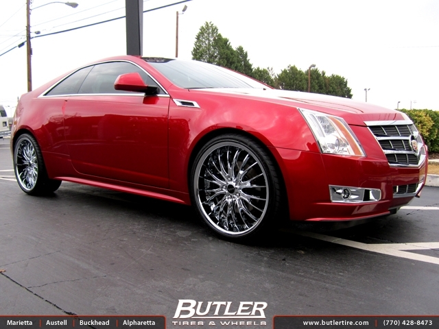 Cadillac CTS with 22in Savini BS5 Wheels