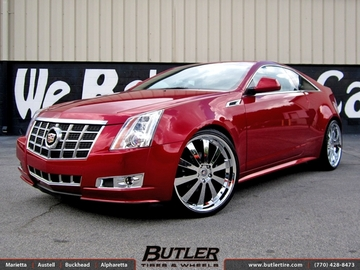 Cadillac CTS with 22in TSW Londrina Wheels