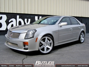 Cadillac CTS-V with 20in DUB 1 Six Wheels