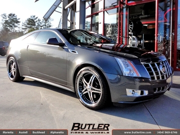 Cadillac CTS-V Coupe with 20in Lexani LX15 Wheels