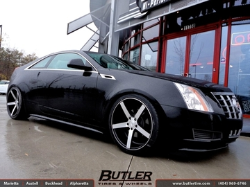 Cadillac CTS-V Coupe with 20in Vossen CV3 Wheels