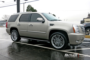 Cadillac Escalade with 22in Black Rhino Kruger Wheels