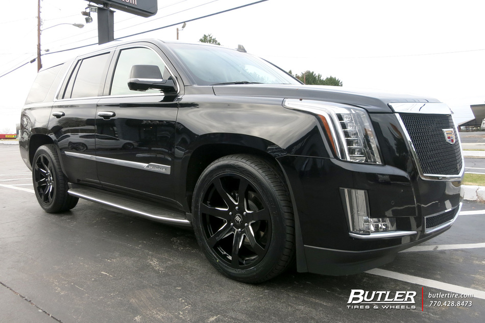 Cadillac Escalade With 22in Black Rhino Mozambique Wheels