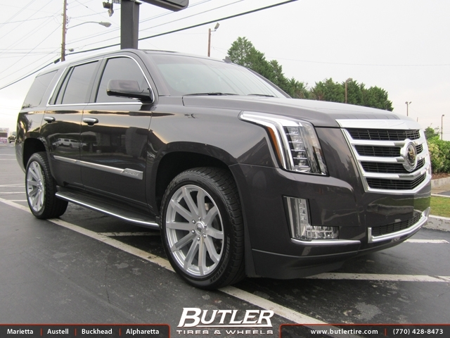 Cadillac Escalade With Black Rims >> Cadillac Escalade with 22in Black Rhino Traverse Wheels exclusively from Butler Tires and Wheels ...