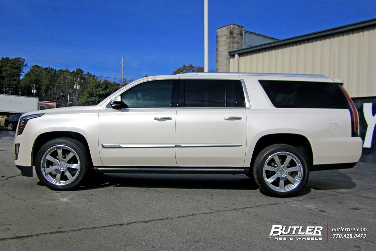 Cadillac Escalade with 22in HRE 948RL Wheels
