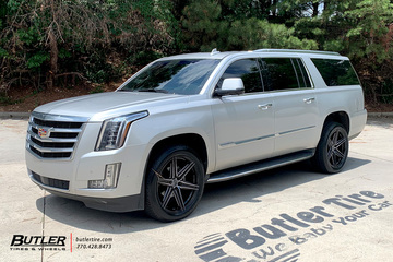 Cadillac Escalade with 22in Vossen HF6-2 Wheels