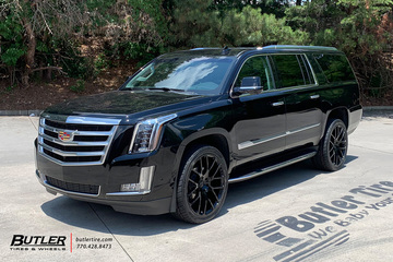 Cadillac Escalade with 24in Black Rhino Kunene Wheels