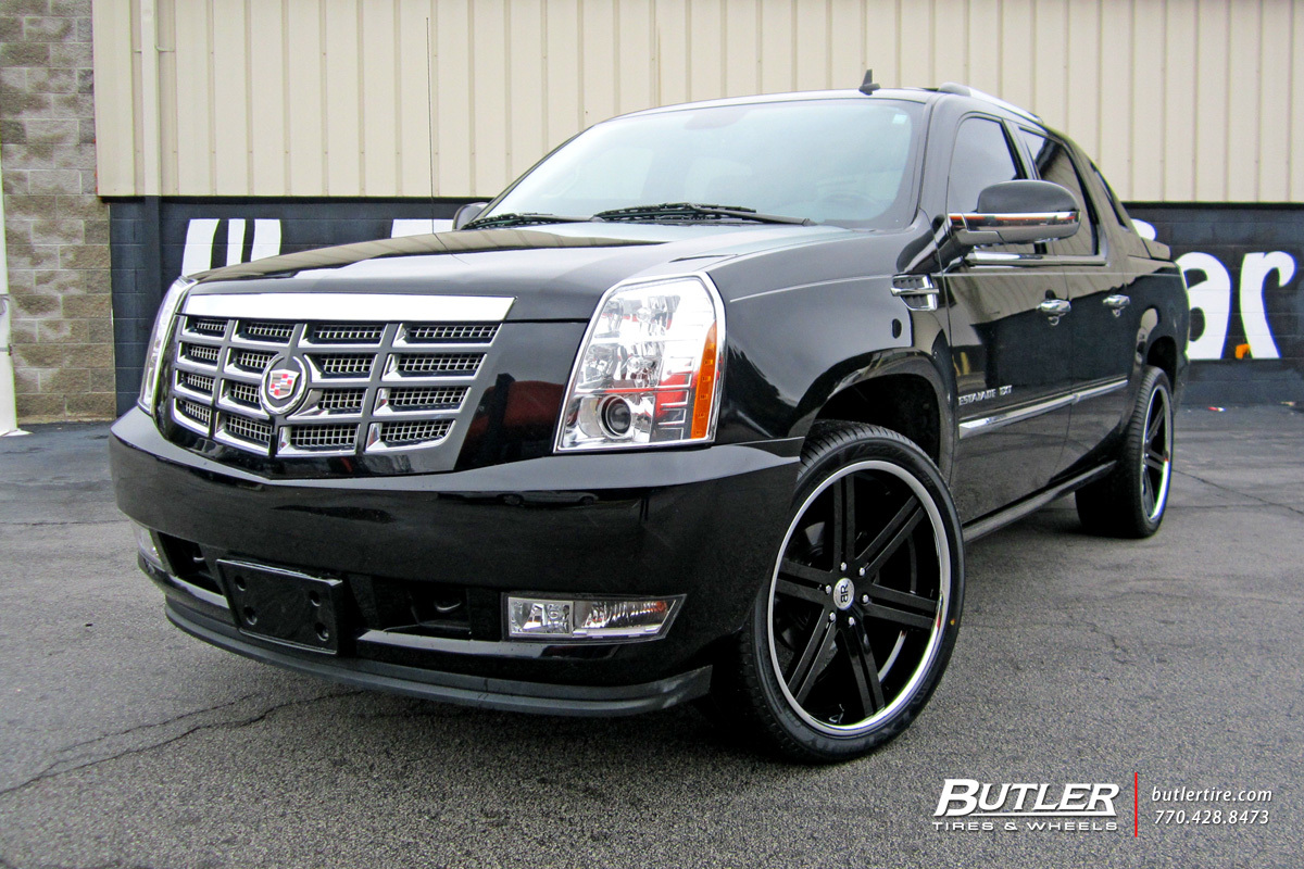 Cadillac Escalade with 24in Black Rhino Letaba Wheels