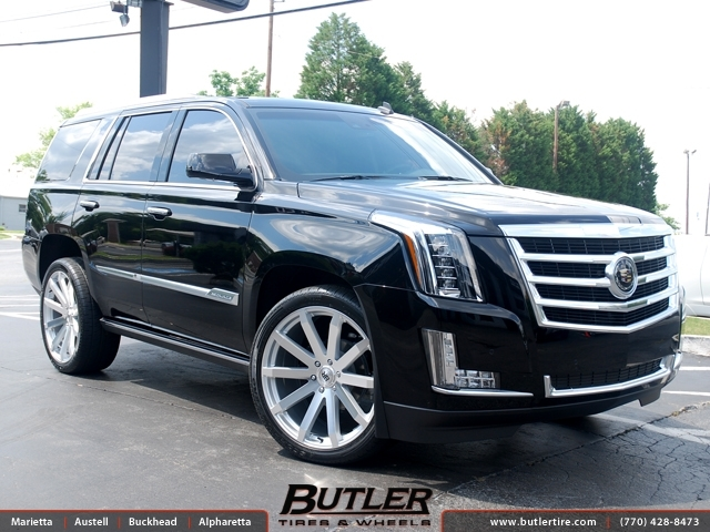 Cadillac Escalade with 24in Black Rhino Traverse Wheels