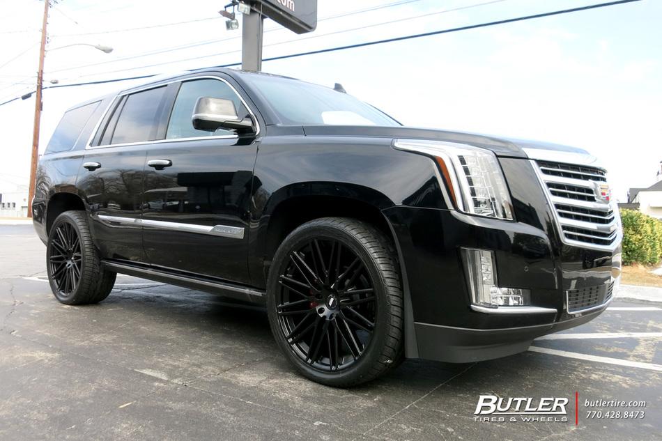 Cadillac Escalade With 24in Black Rhino Zulu Wheels