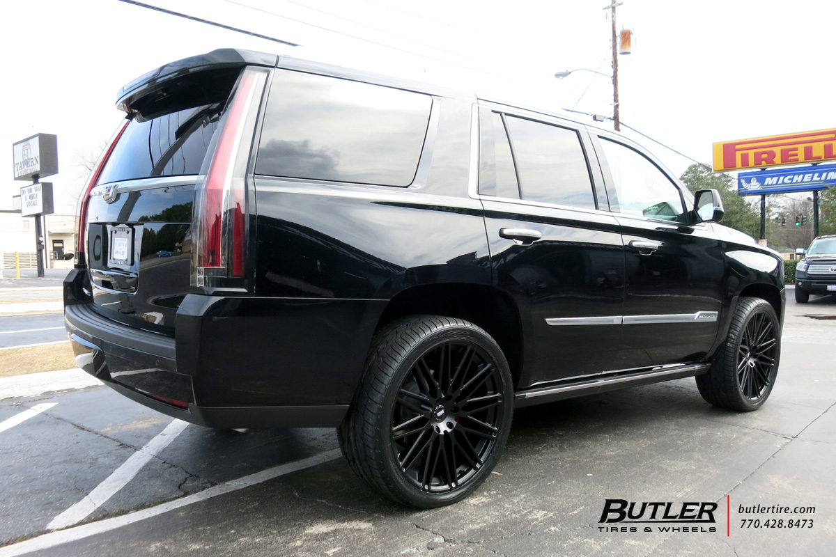 Cadillac Escalade with 24in Black Rhino Zulu Wheels