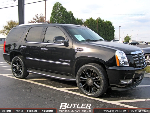 Cadillac Escalade With 24in Jr Platinum Wheels Exclusively