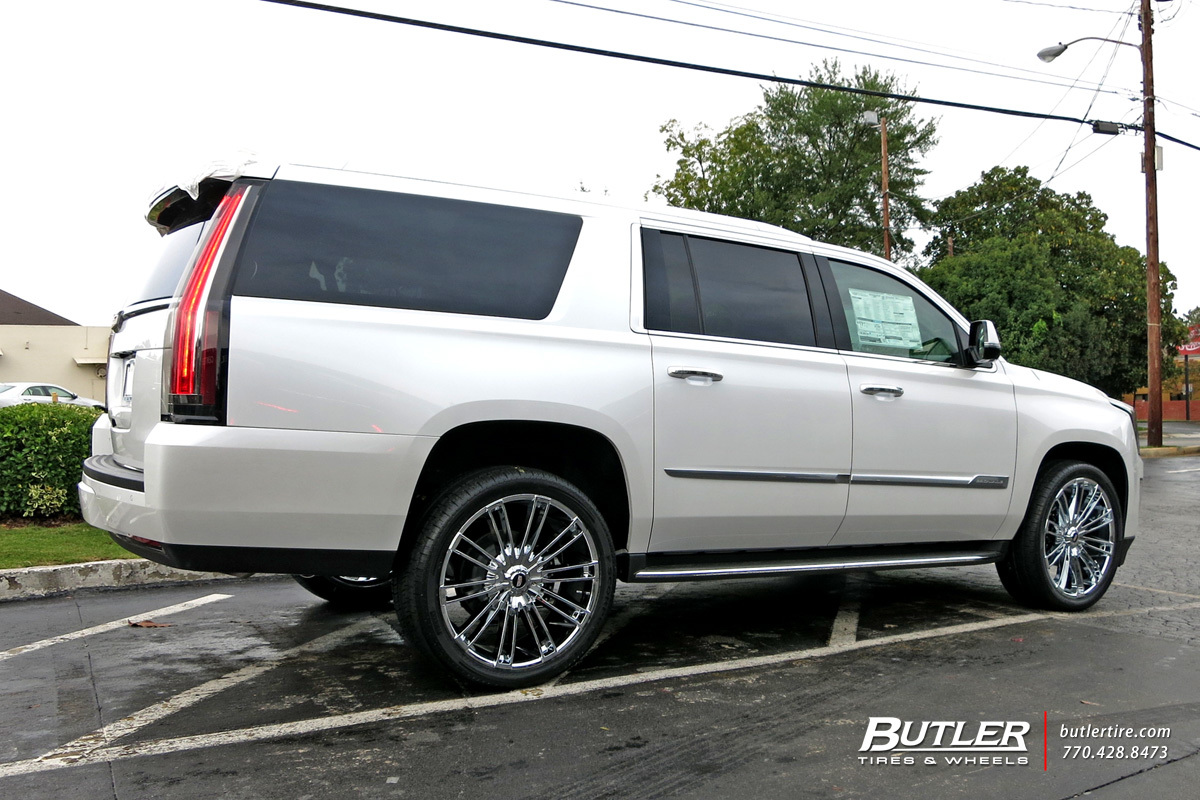 Cadillac Escalade with 24in Kraze Inspire Wheels