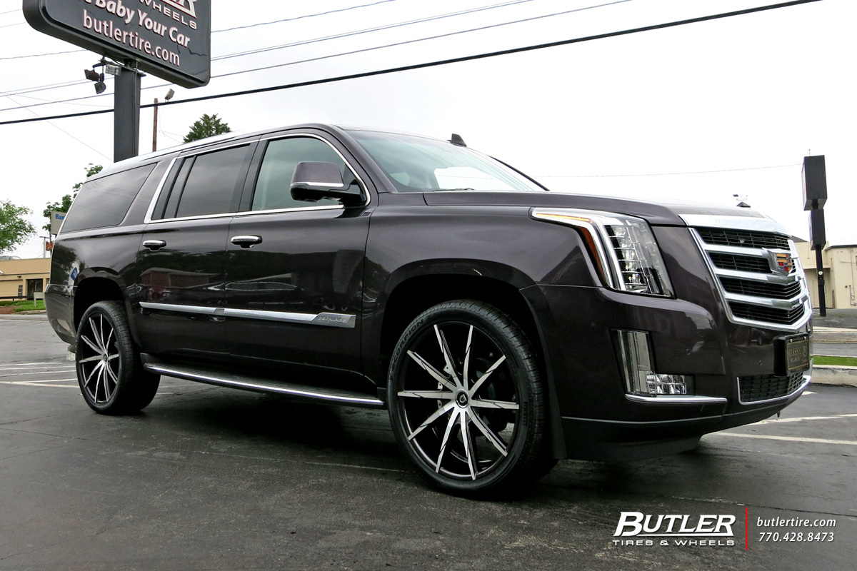 Cadillac Escalade with 24in Lexani CSS15 Wheels