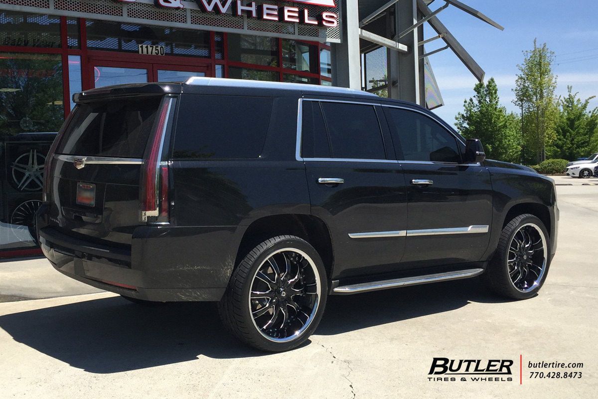 Cadillac Escalade with 24in Lexani LSS10 Wheels