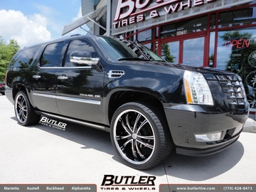 Cadillac Escalade with 24in Lexani LSS55 Wheels