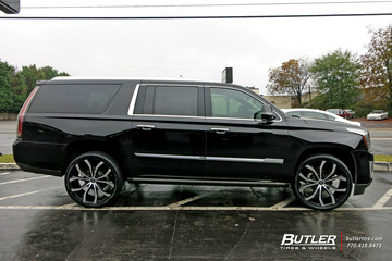 Cadillac Escalade with 24in Lexani Lust Wheels