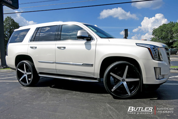 Cadillac Escalade with 24in Lexani R-Four Wheels