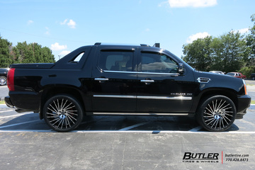 Cadillac Escalade with 24in Lexani Wraith Wheels