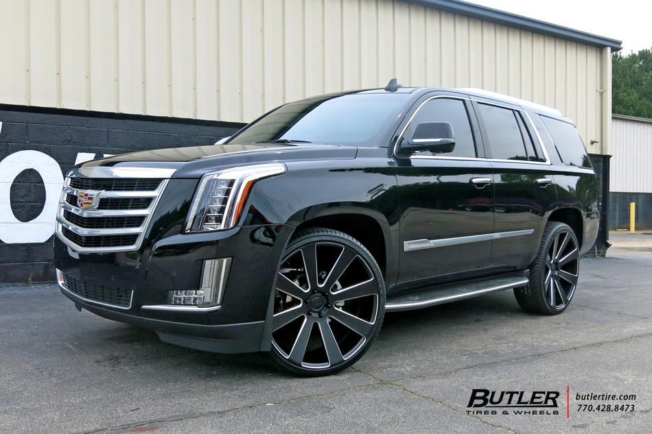 Cadillac Escalade with 26in DUB 8-Ball Wheels exclusively from Butler Tires and Wheels in ...
