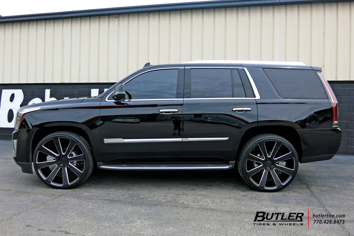 Cadillac Escalade with 26in DUB 8-Ball Wheels