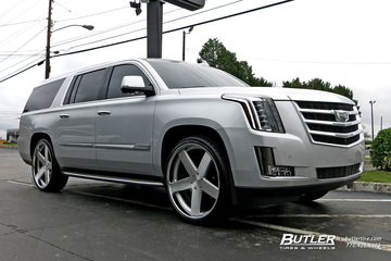 Cadillac Escalade with 26in DUB Baller Wheels