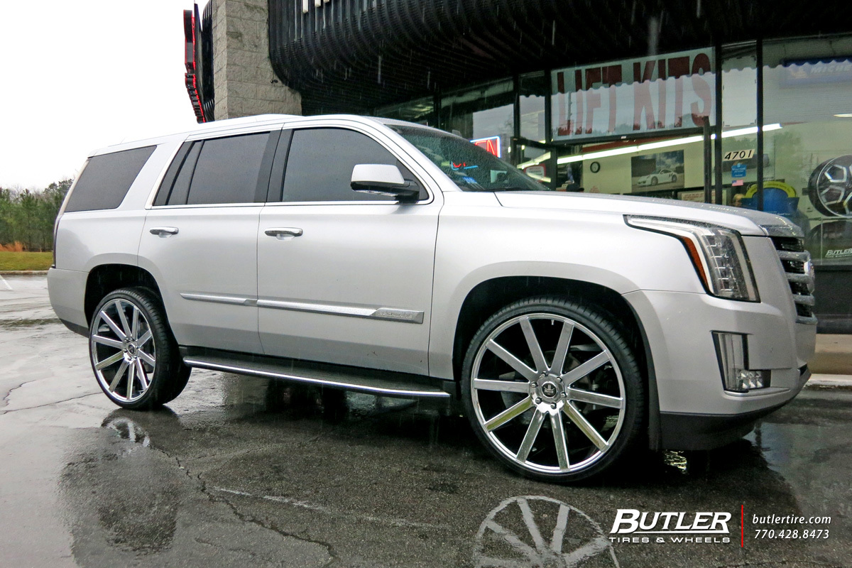 Cadillac Escalade with 26in DUB Shot Calla Wheels exclusively from
