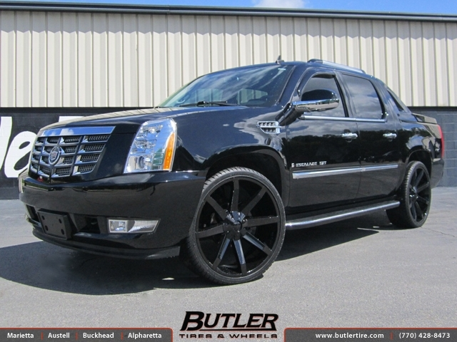 Jeep Wrangler Rims And Tire Packages >> Cadillac Escalade with 26in KMC Slide Wheels exclusively ...