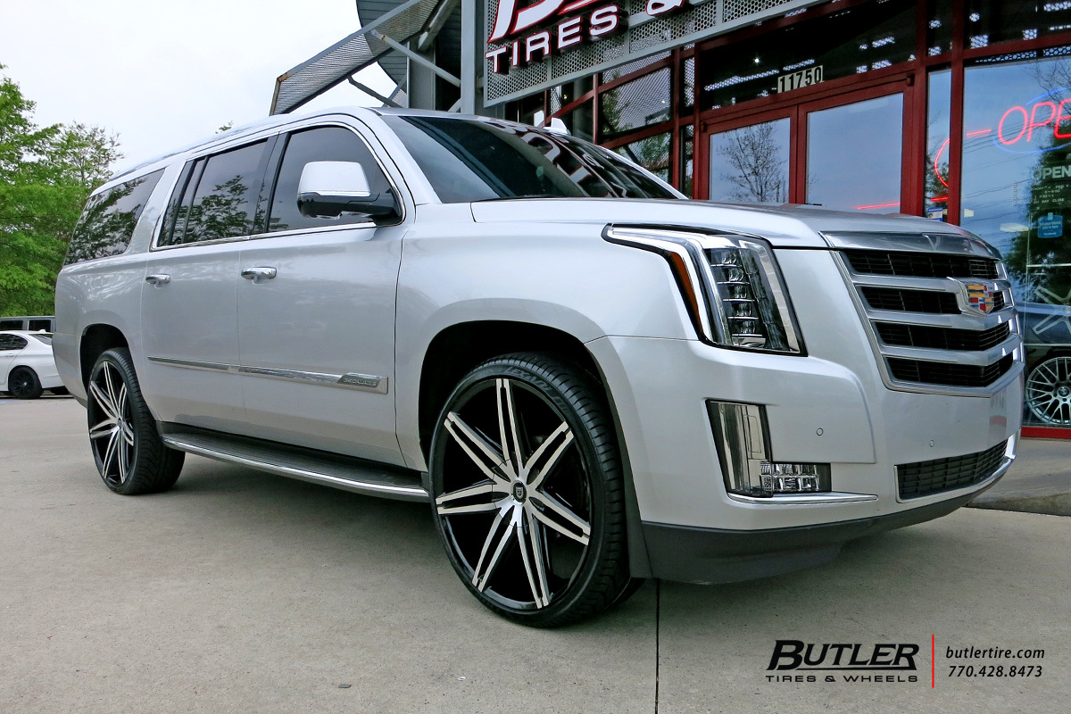 Cadillac Escalade Tire Size 200 Esv With 26in Lexani Johnson Ii Wheels Exclusively