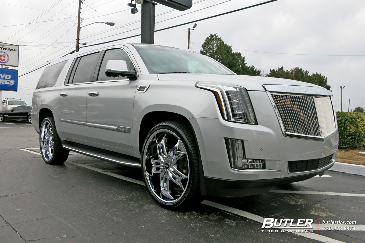 Cadillac Escalade with 26in Lexani Tristo Wheels exclusively from