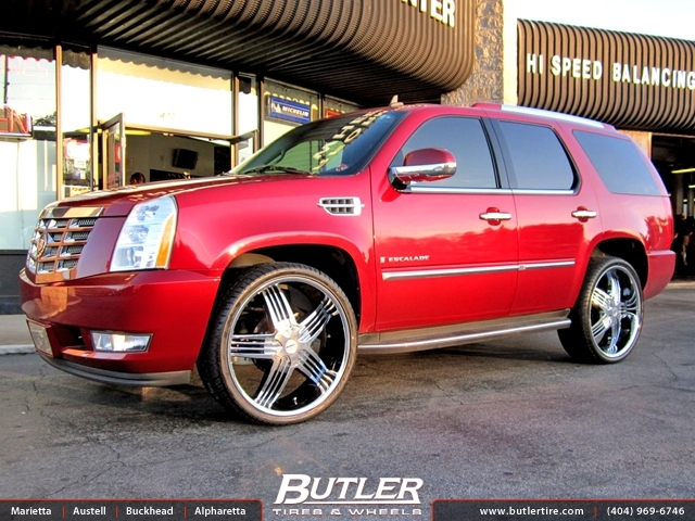 Cadillac Escalade with 26in Rennen RS6 Wheels