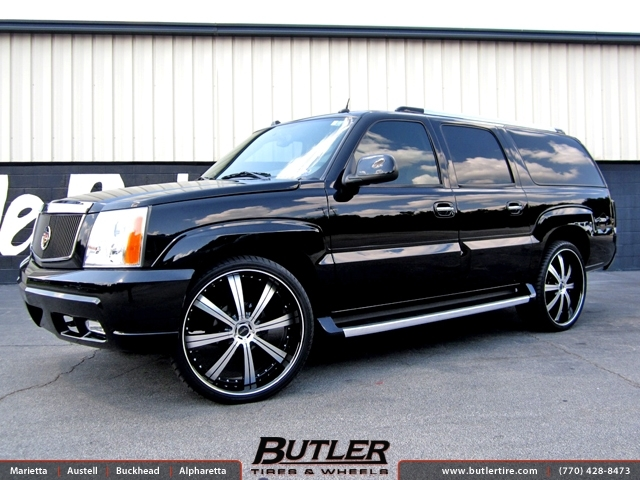 Cadillac Escalade with 26in Savini BM5 Wheels
