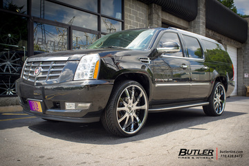 Cadillac Escalade with 26in Savini SV46 Wheels