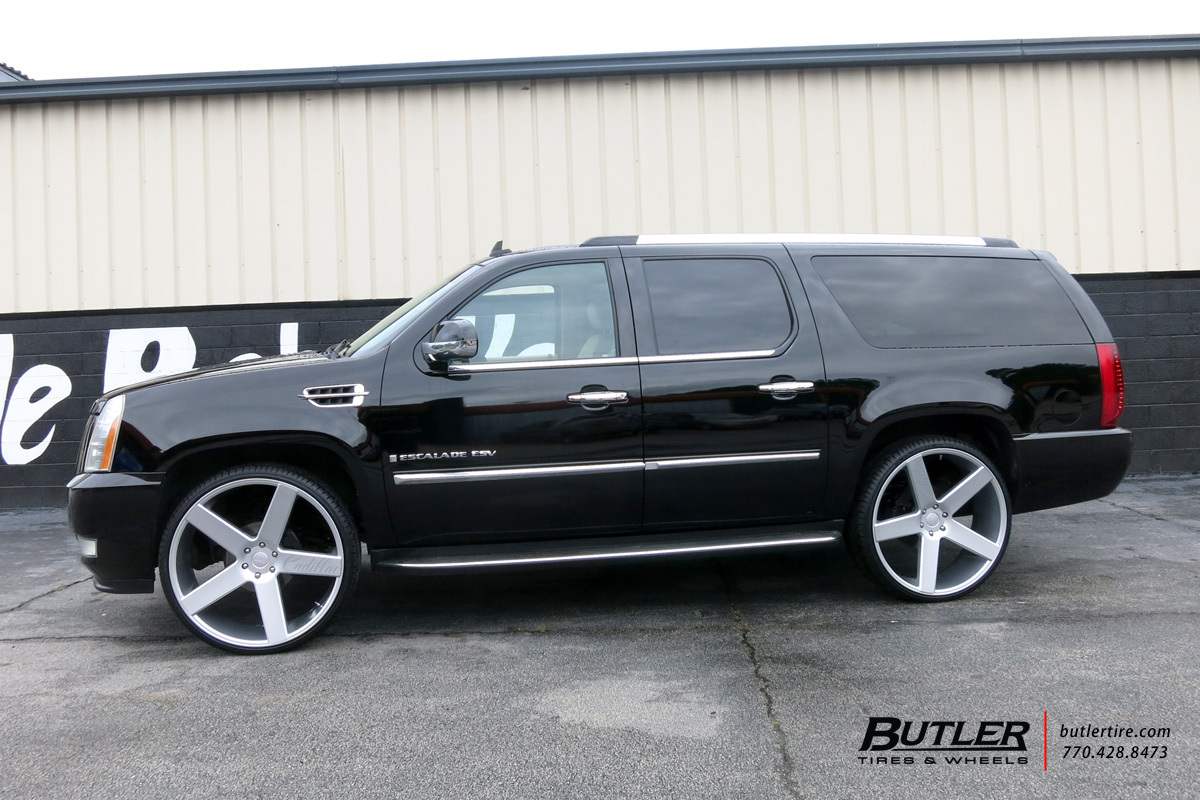 Cadillac Escalade with 28in DUB Baller Wheels