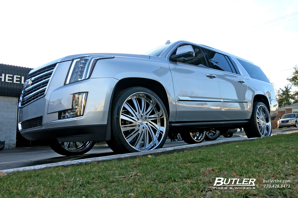 Cadillac Escalade with 26in DUB Statica Wheels