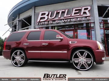 Cadillac Escalade with 28in Lexani Advocate Wheels