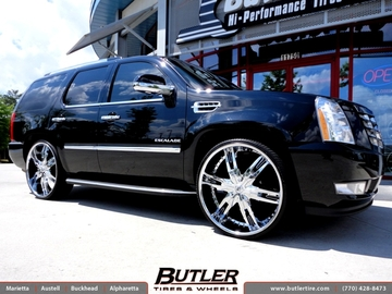 Cadillac Escalade with 28in Lexani LX30 Wheels