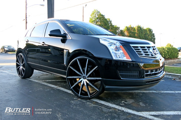 Cadillac SRX with 26in Lexani CSS15 Wheels