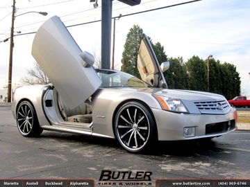 Cadillac XLR with 22in Lexani CVX 55 Wheels