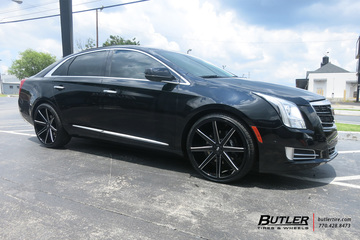 Cadillac XTS with 22in DUB Push Wheels