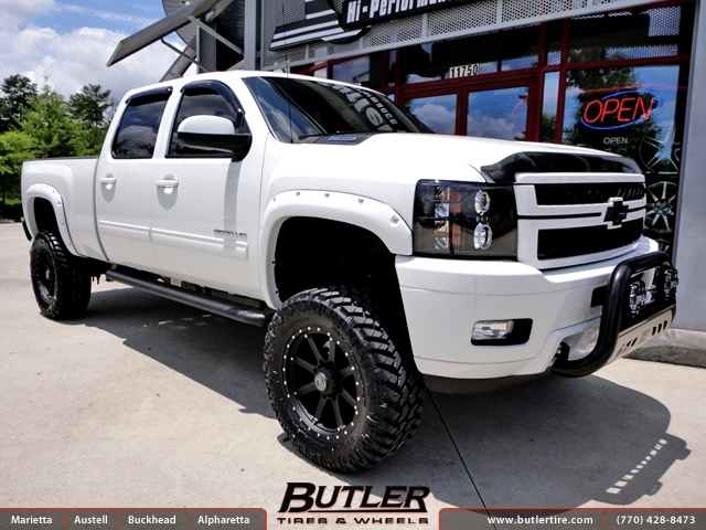 Chevrolet 2500HD with 20in Black Rhino Moab Wheels ...