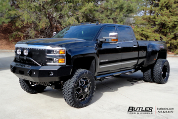 Chevrolet 3500HD Dually with 22in XD Battalion Wheels