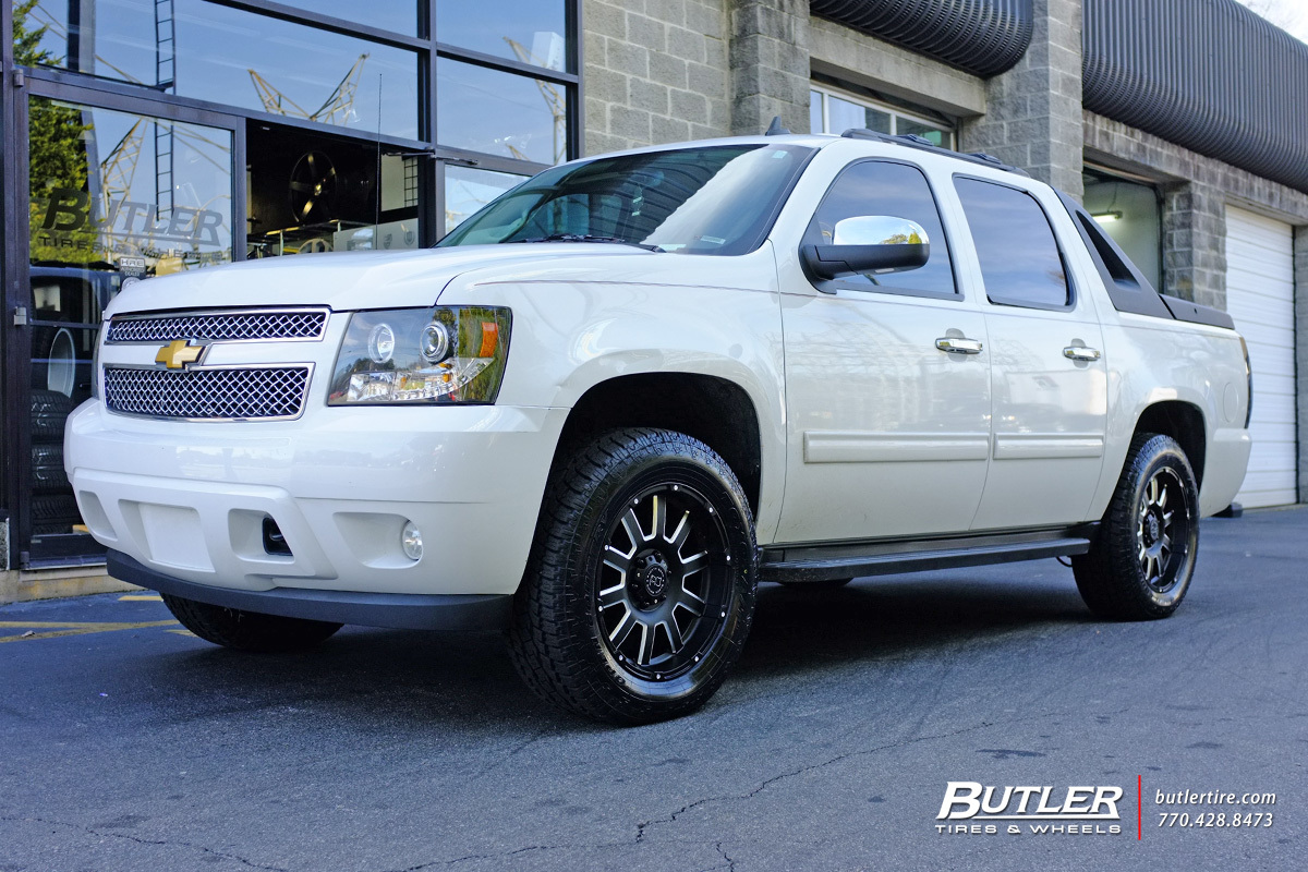Chevrolet Avalanche with 20in Black Rhino Armour Wheels