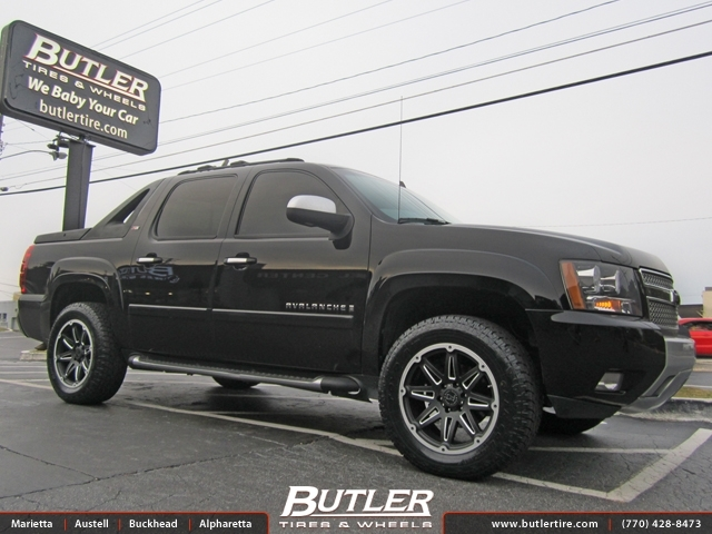 Chevrolet Avalanche With 20in Black Rhino Slide Wheels