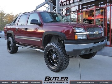 Chevrolet Avalanche with 20in Fuel Hostage Wheels