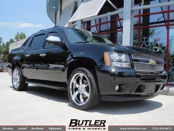 Chevrolet Avalanche with 22in Black Rhino Pondora Wheels